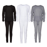 Men's 2 Piece Thermal Set Waffle Knit Long John Underwear Top and Bottom