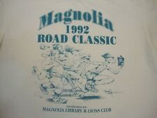 Vintage Magnolia 1992 Road Classic Running Library and Lions Club Tshirt M