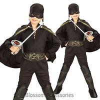 CK236 Child Licensed Zorro Boys Kids Book Week Fancy Dress Up Party Costume