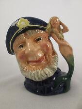 """Vintage 4 1/4"""" Royal Doulton England Old Salt Character Jug Porcelain D6554"""