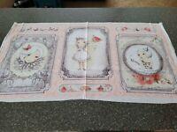 La Vie En Rose Panel 23x42 Gorjuss Santoro Quilting Treasures Girl BOLT END #4