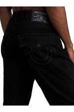 True Religion мужские Рикки джинсы-стретч прямого покроя в теле ополаскиватель черный