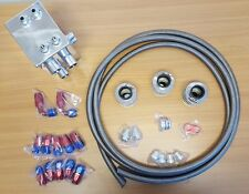 SALE PLM 6-Port Oil Catch Can/BREATHER TANK RACE KIT HOSE & FITTINGS (Universal)