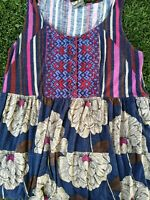 One September OS Anthropologie Trudy Embroidered Tank Top Size XS