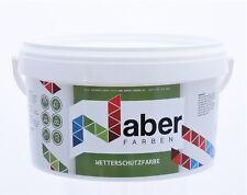 (11,20 €/L)  2,5 Liter - Wetterschutzfarbe - SCHWEDENROT - Seidenglanz