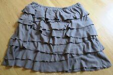 Garnet Hill Tiered Ruffle Skirt Women's Size XS Gray Cotton Modal #1103