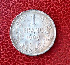 Belgique - Léopold II - Superbe monnaie de 1 Franc 1909 FR
