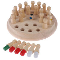 Kids Wooden Memory Match Stick Chess Game Educational Toys Brain Training Gifts∧