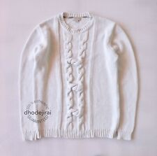 Authentic BURBERRY Chunky Knit Cotton Jumper/Sweater/Pullover Mens/Womens Medium
