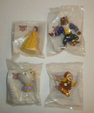 Lot of 4 Beauty and the Beast vtg Burger Kings Kids Meal Toys Figures Disney new