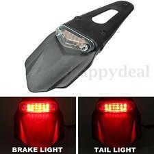 Universal Motorcycle Enduro Dirt Bike Fender LED Stop Rear Tail Light Lamp 12v