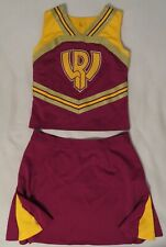 "Authentic 2 Piece Cheerleader Uniform, Larger Size: ""Wr""."