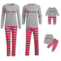 Family Matching Christmas Womens Mens Baby Kids Sleepwear Nightwear Pajamas Set