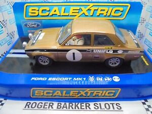 "Scalextric  C2920 Ford Escort Mk1 ""RS 1600""  #1  lights  BNIB"