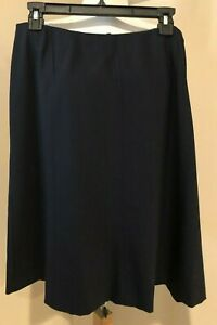 TALBOTS Womens Navy Blue Career A Line Skirt NWT $118 - Sz 16WP 16W P