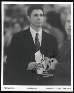 Rex Walters Signed 8x10 Photo College NCAA Basketball Coach Autographed