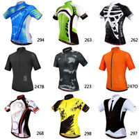 Mens Road Team Cycling Jersey MTB Bike Bicycle Short Sleeve Clothing Sports Tops