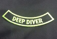DEEP DIVER Iron-on ROCKER patch adventure Certificate Embroidered scuba NEON