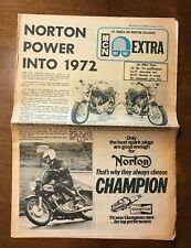 January 1972 Motor Cycle News - Norton Commando/Interstate Motorcycle Review
