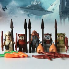 5pcs star wars  Mini Ewok Village Teebo Wicket Building Blocks Figures Kid Toys