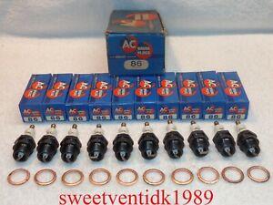 (10)...'NOS' Vintage AC - 86.....Spark Plugs......Circa 1930's – 1940's