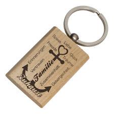 Schlüsselanhänger Holz mit Gravur - Familie Anker - Gravur beidseitig