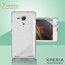 Clear S Curve Gel Case+ Free SP for Sony XPERIA SP M35h Jelly Tpu soft cover