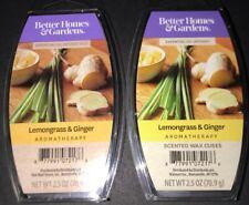 2  BETTER HOMES & GARDENS Aromatherapy Wax Melts LEMONGRASS & GINGER 2.5 Oz Each