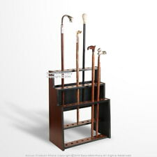 Deluxe 3 Tiers Wooden Walking Stick Display Stand Hold 24 Canes