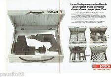 PUBLICITE ADVERTISING 116  1988   Bosch (2p)  outillage coffret perceuse