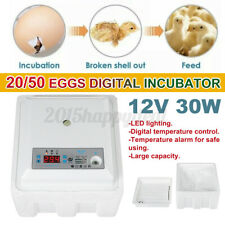 20 Eggs Digital Egg Incubator Temperature Control Poultry Chicken Duck