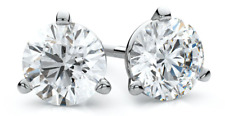 3.00 Carat Stunning Marquise Shape 925 Sterling Silver Solitaire Women's Studs