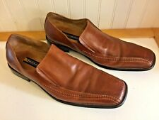 STACY ADAMS  Men's 15 M  Leather Loafers Square Toe Slip On Dress Shoes