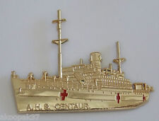 2ND/3RD AUSTRALIAN HOSPITAL SHIP CENTAUR BADGE GOLD PLATED 60MM LONG 50MM HIGH