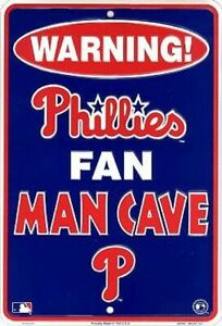 Philadelphia Phillies MLB Fan Man Cave Parking Sign
