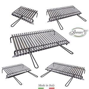Graticola in acciaio inox, griglia inox per barbecue con recupero oli + OMAGGIO