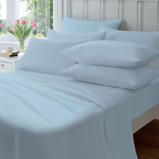 Jenny McLean 100 Egyptian Cotton 175gsm Flannelette Sheet Set All Sizes Single Blue