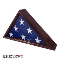 Veteran 5×9 In Memorial Flag Display Case Solid Wooden Shadow Box Cherry Finish