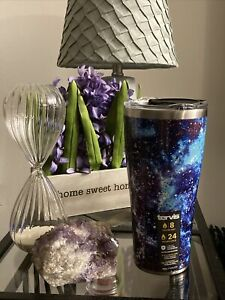 TERVIS 30 OZ. TUMBLER * PURPLE GALAXY DESIGN STAINLESS STEEL 8HR COLD & 24HR HOT