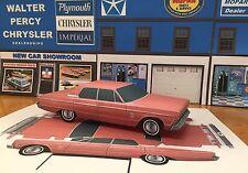 Papercraft 1966 Plymouth Fury III four door hardtop EZU-build PaperToy Model Car