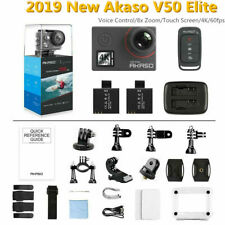 Akaso V50 Elite 4K Action Camera 8X ZOOM Touch Screen +All Accessories+IR Remote