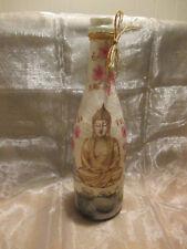 Leuchtflasche - Buddha,Geisha, Asien, Blumen, inkl. LED-Lichterkette-Batterien
