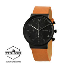 Skagen Men's Ancher Black Dial Chronograph Watch SKW6359