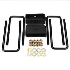 "2"" Rear Leveling Lift Kit For 2007-2019 Chevy Silverado Sierra  Aluminum BLACK"