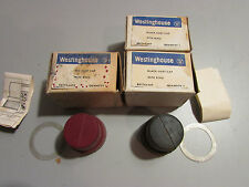 Westinghouse Oil Tight Black Dust Cap x 2 + Red Dust Cap Push Button Boot