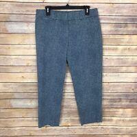 LOFT Womens Size 8P Julie Blue Mini Dot Straight Leg Capri Pant Stretch Mid Rise