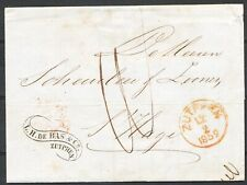 BRIEF ZUTPHEN- S HAGE 12/2 1859,PORT 10 CT.,MOOI AFZ.ST. L.H. DE BAS & CO. Zi139