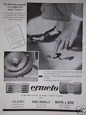 PUBLICITÉ 1931 ERMETO MOVADO SOLIDITÉ DE LA MONTRE - ADVERTISING