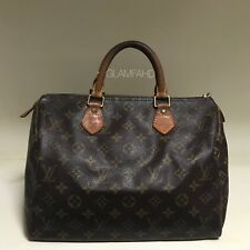 Authentic Louis Vuitton LV Monogram Canvas Speedy 30 Handbag