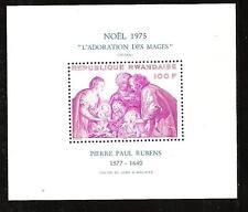 RWANDA # 713 MNH RELIGIOUS ART CHRISTMAS 1975. Souvenir Sheet